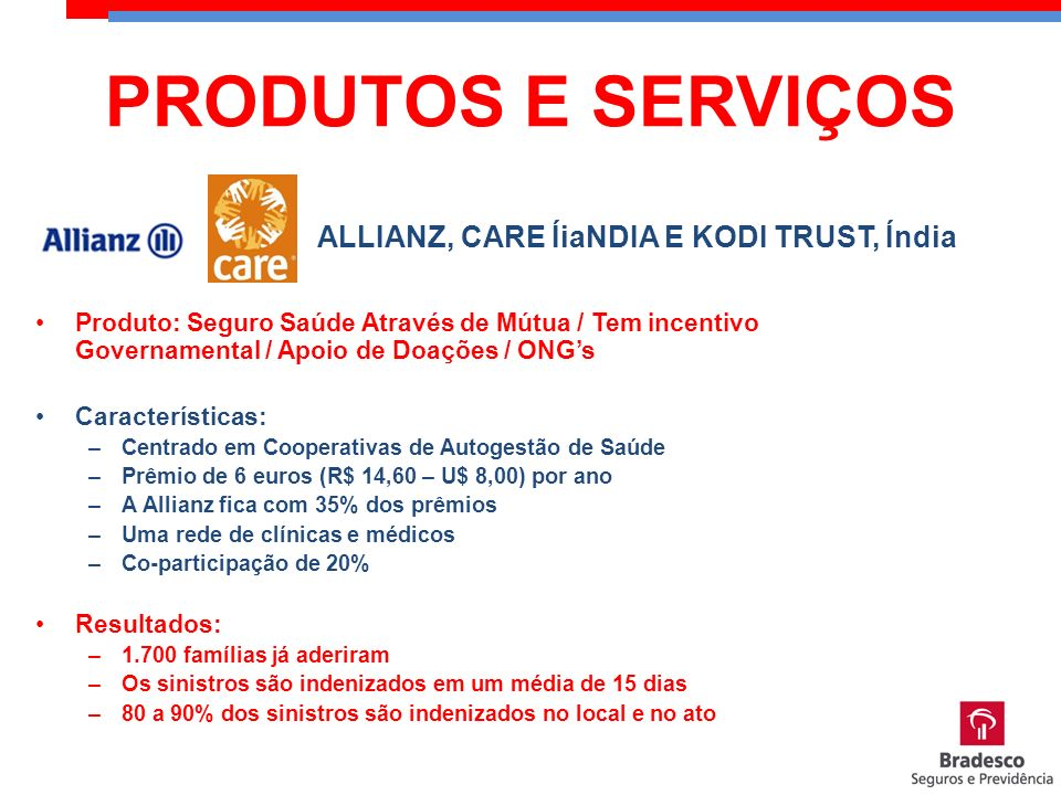 ALLIANZ, CARE ÍiaNDIA E KODI TRUST, Índia