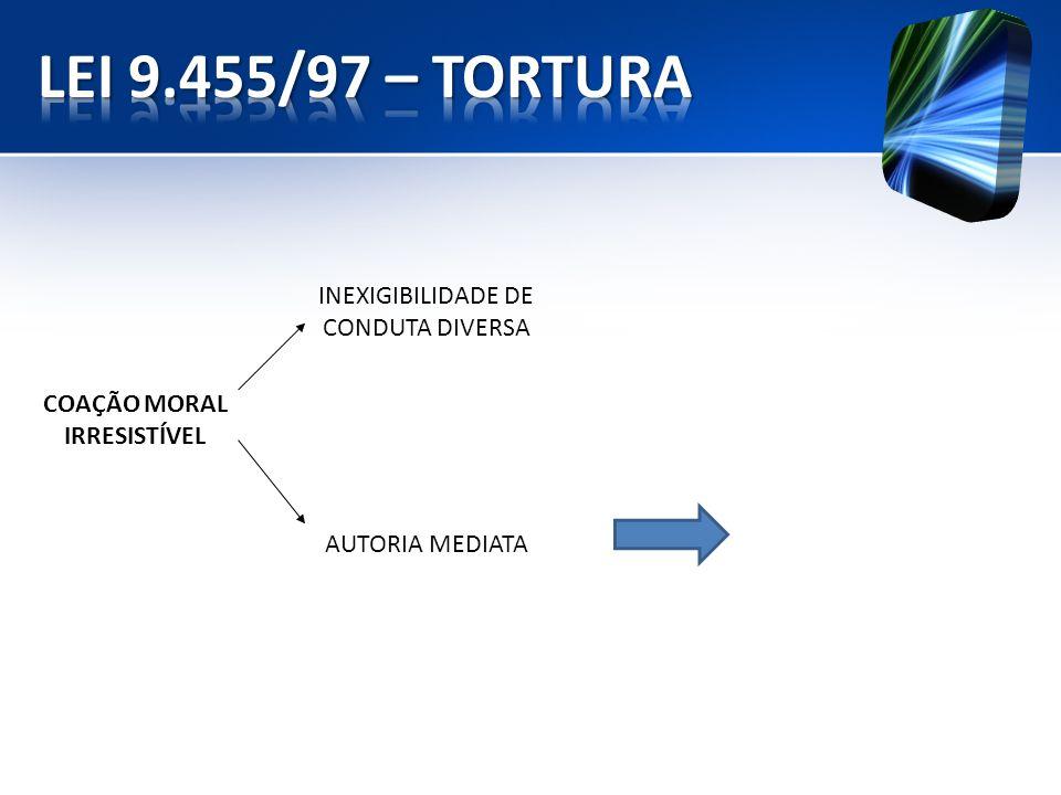 COAÇÃO MORAL IRRESISTÍVEL