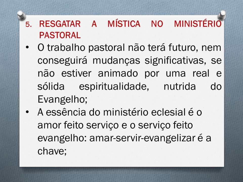 RESGATAR A MÍSTICA NO MINISTÉRIO PASTORAL