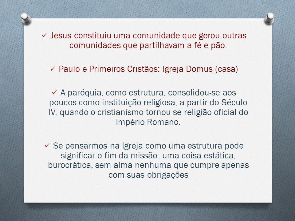 Paulo e Primeiros Cristãos: Igreja Domus (casa)