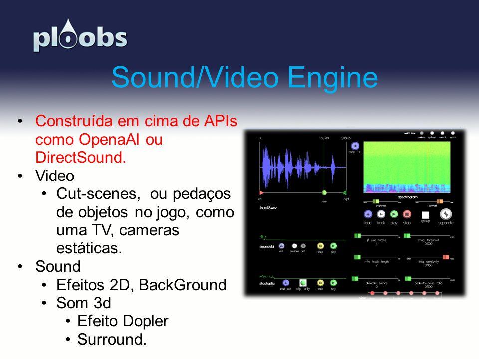 Sound/Video Engine Construída em cima de APIs como OpenaAl ou DirectSound. Video.