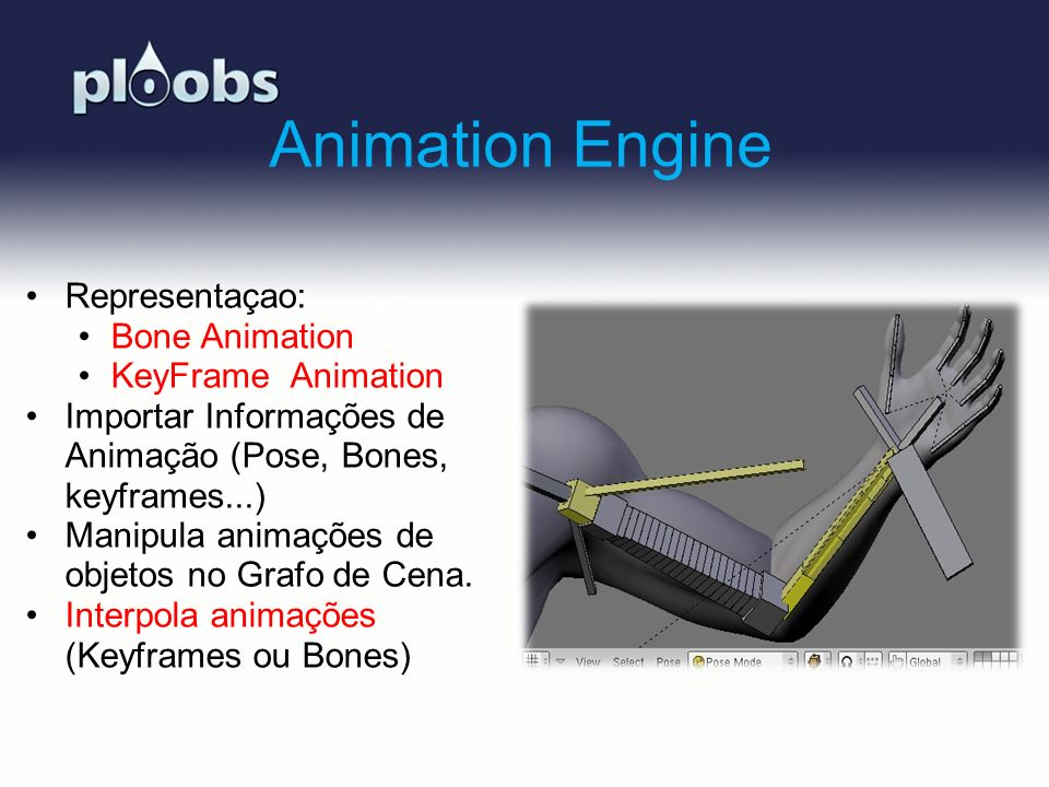 Animation Engine Representaçao: Bone Animation KeyFrame Animation