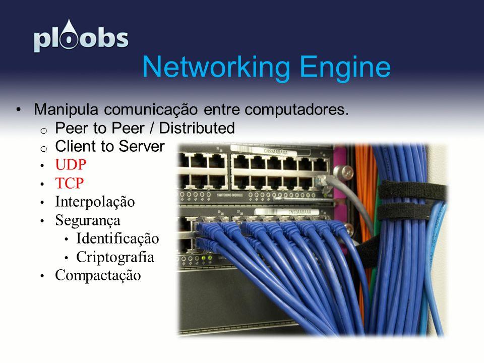 Networking Engine Manipula comunicação entre computadores.
