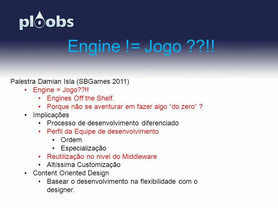 Engine != Jogo !! Palestra Damian Isla (SBGames 2011)