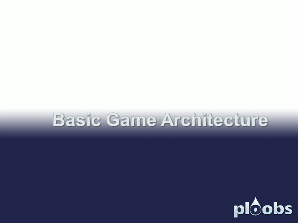 Basic Game Architecture
