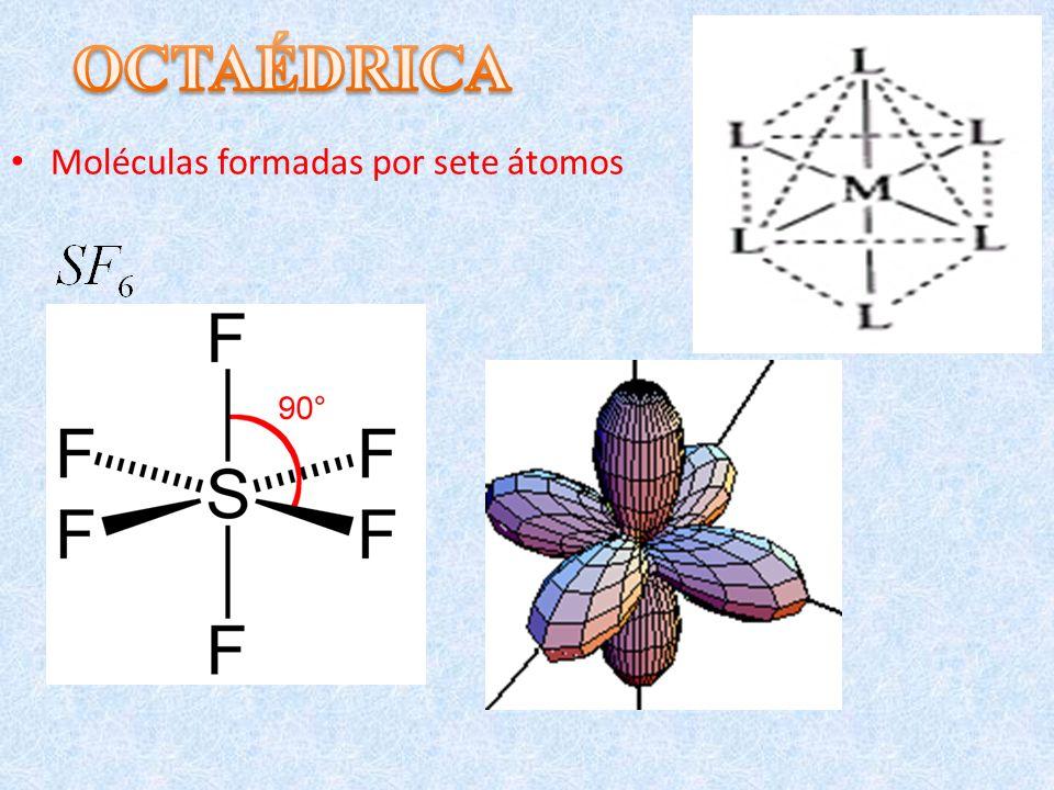 OCTAÉDRICA Moléculas formadas por sete átomos