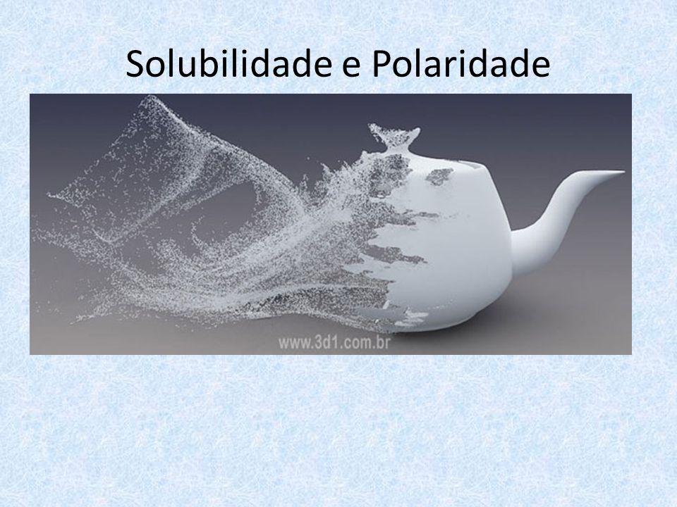 Solubilidade e Polaridade
