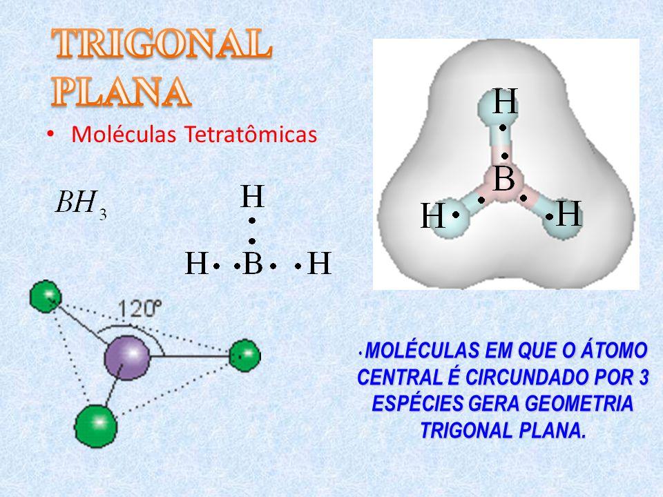 TRIGONAL PLANA Moléculas Tetratômicas