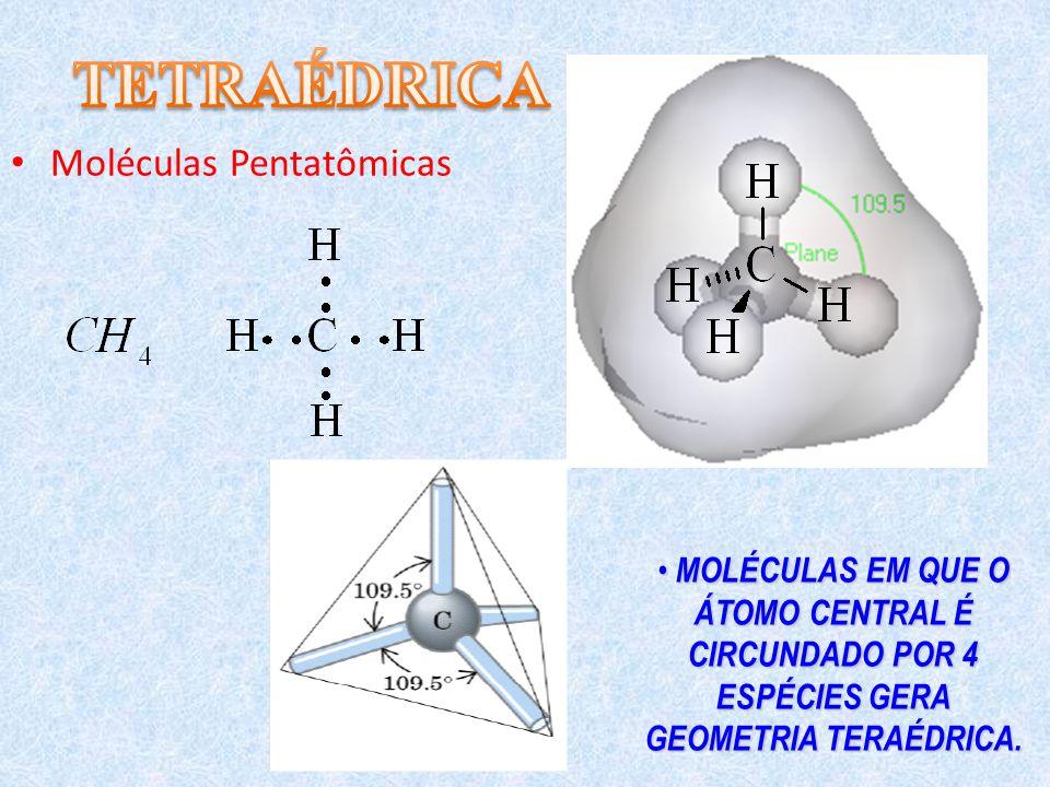 TETRAÉDRICA Moléculas Pentatômicas