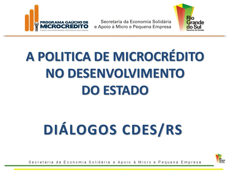 A POLITICA DE MICROCRÉDITO