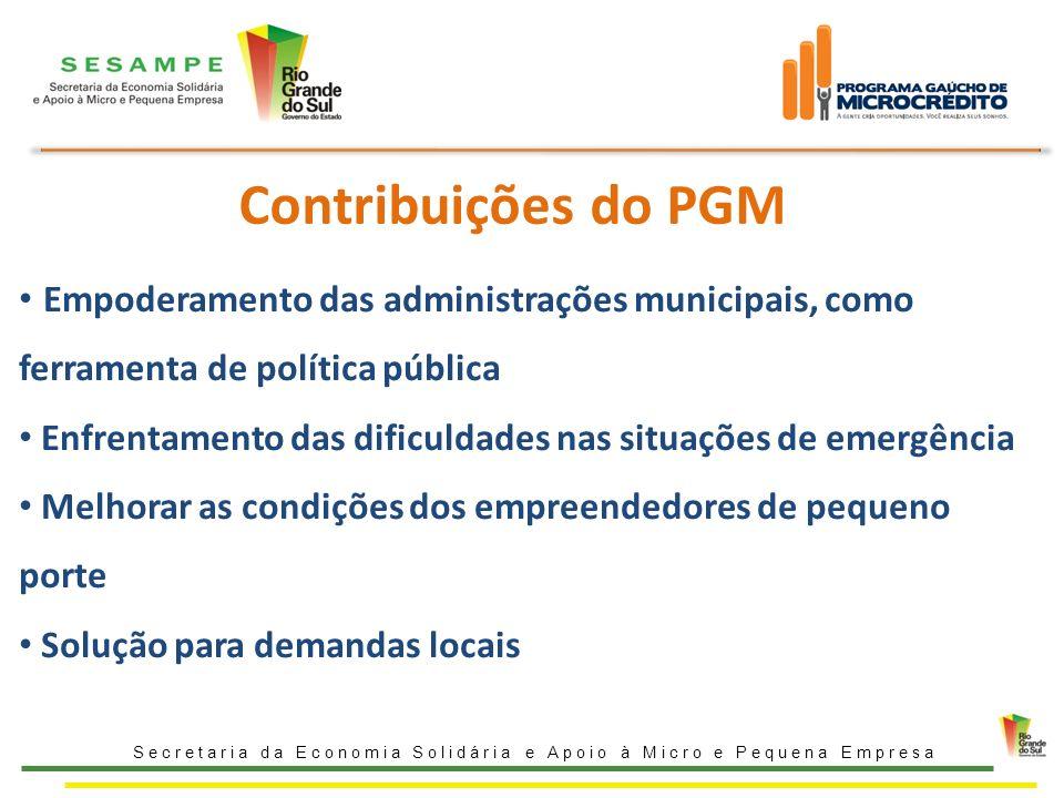 Contribuições do PGM Empoderamento das administrações municipais, como ferramenta de política pública.