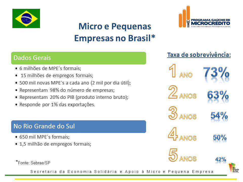 Micro e Pequenas Empresas no Brasil*