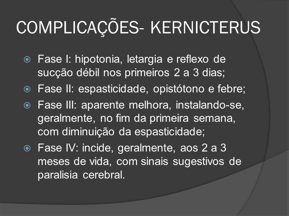 COMPLICAÇÕES- KERNICTERUS