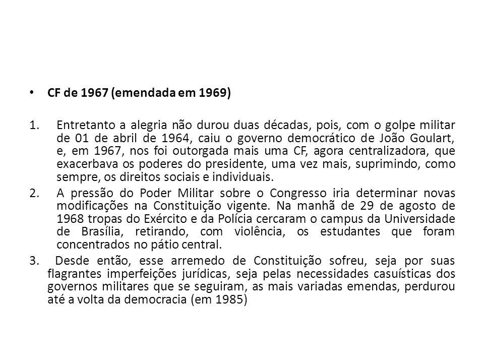CF de 1967 (emendada em 1969)