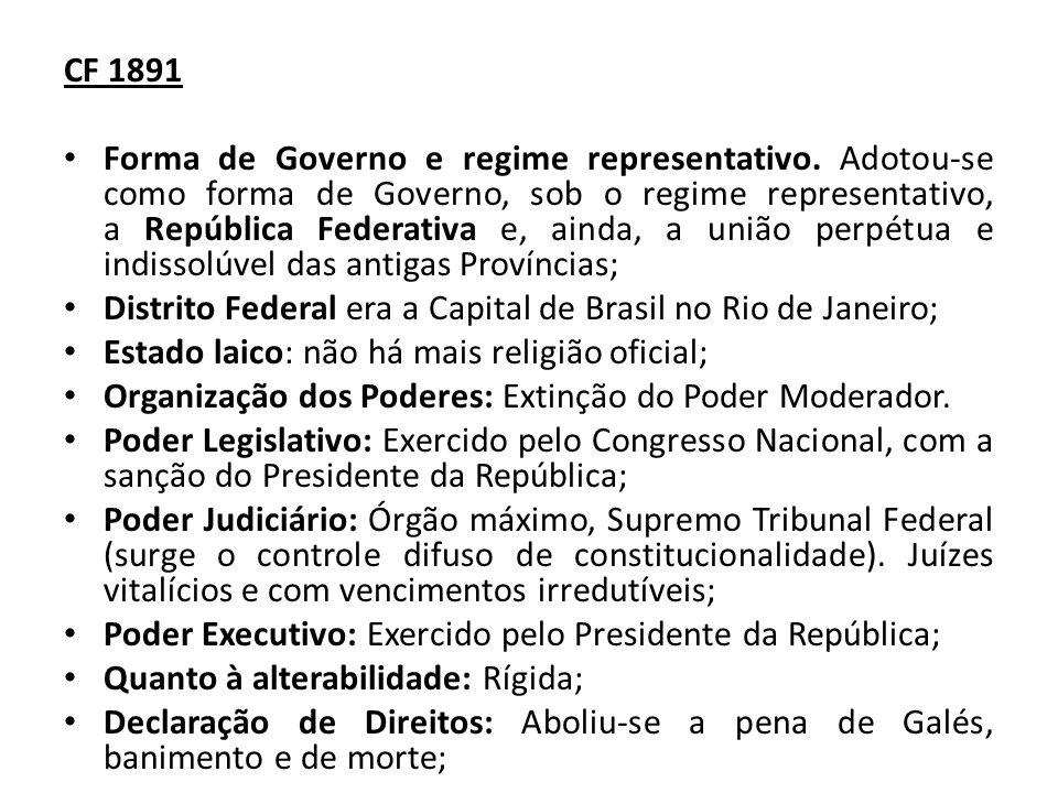 Distrito Federal era a Capital de Brasil no Rio de Janeiro;