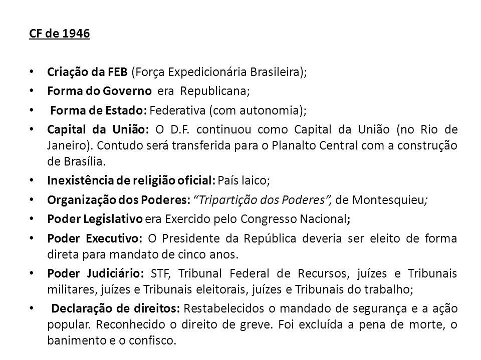 Criação da FEB (Força Expedicionária Brasileira);