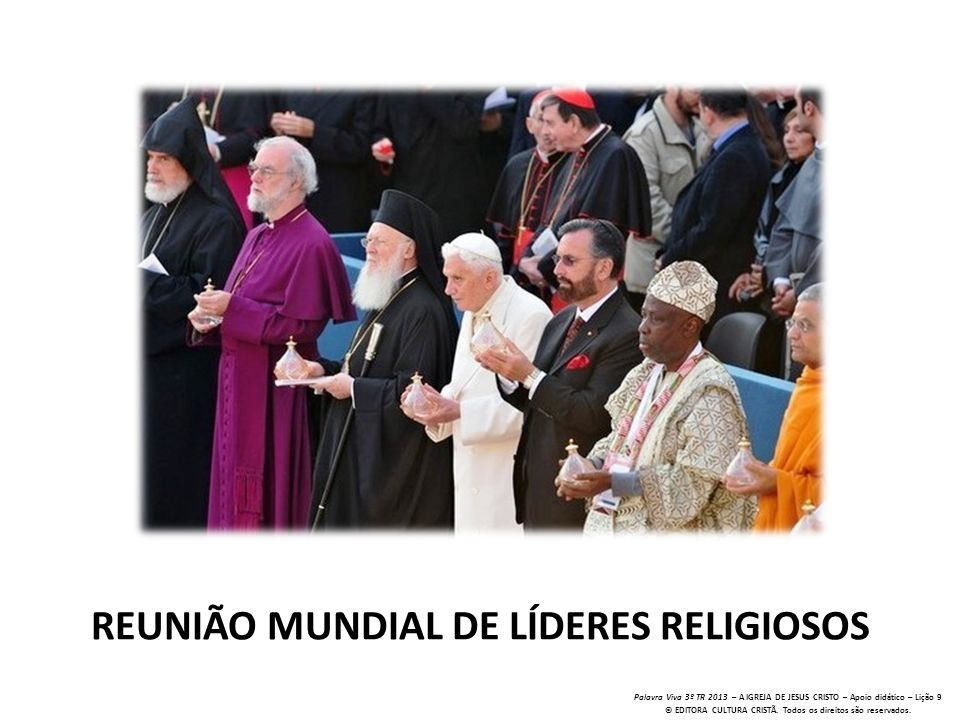 REUNIÃO MUNDIAL DE LÍDERES RELIGIOSOS