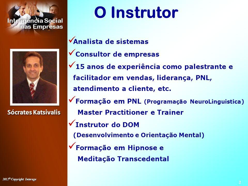 O Instrutor Formação em Hipnose e Meditação Transcedental