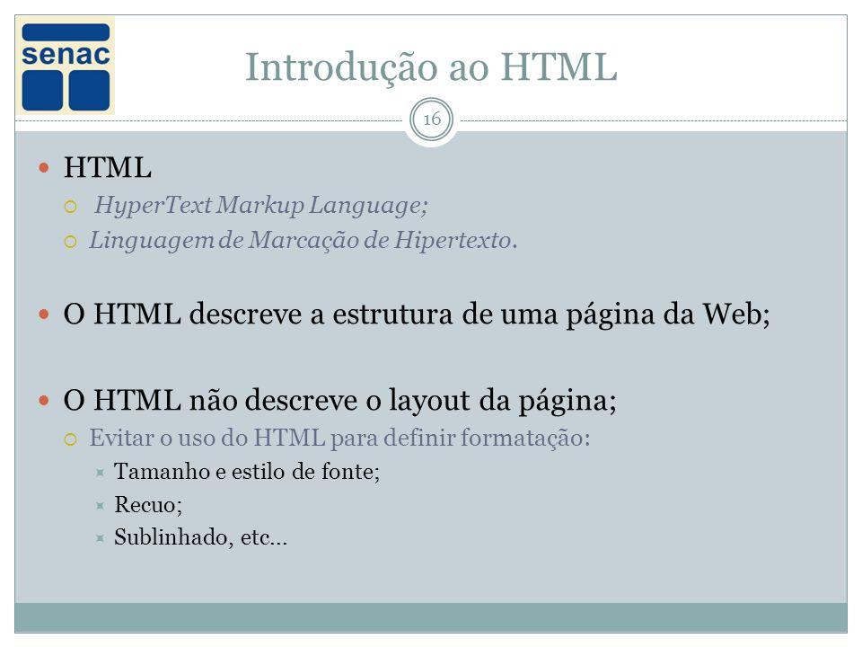 Introdução ao HTML HTML
