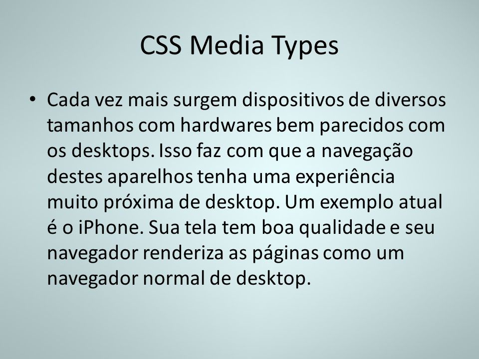 CSS Media Types