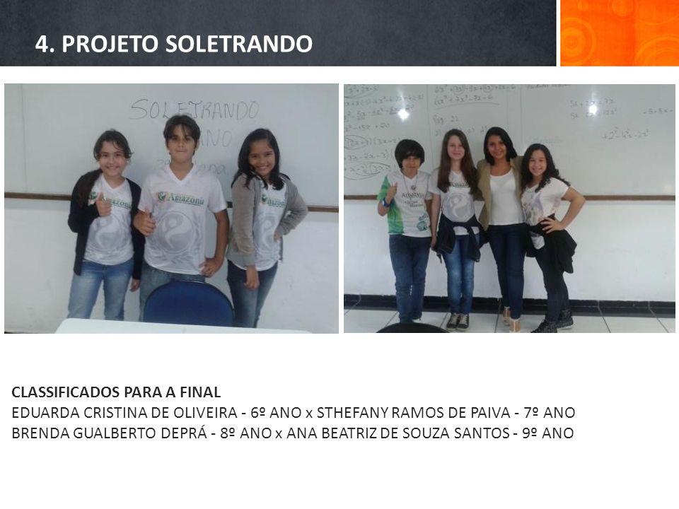 4. PROJETO SOLETRANDO CLASSIFICADOS PARA A FINAL