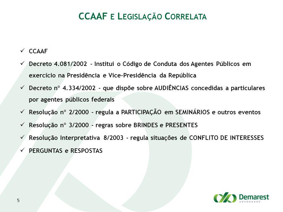 CCAAF e Legislação Correlata