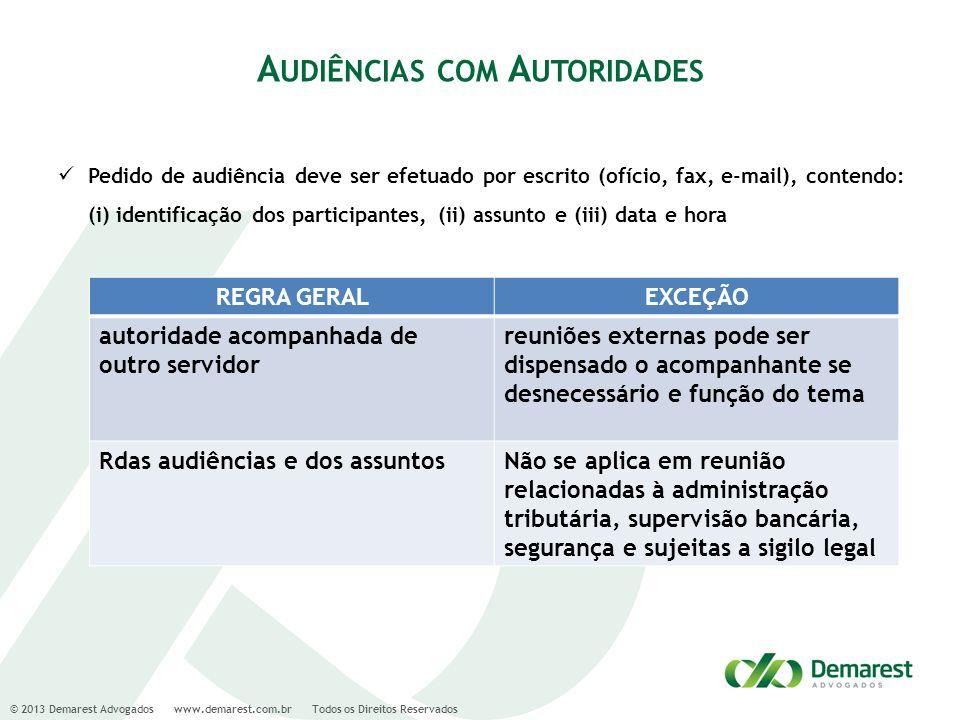 Audiências com Autoridades