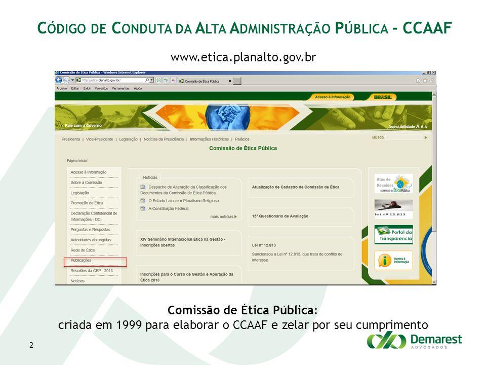 Código de Conduta da Alta Administração Pública - CCAAF