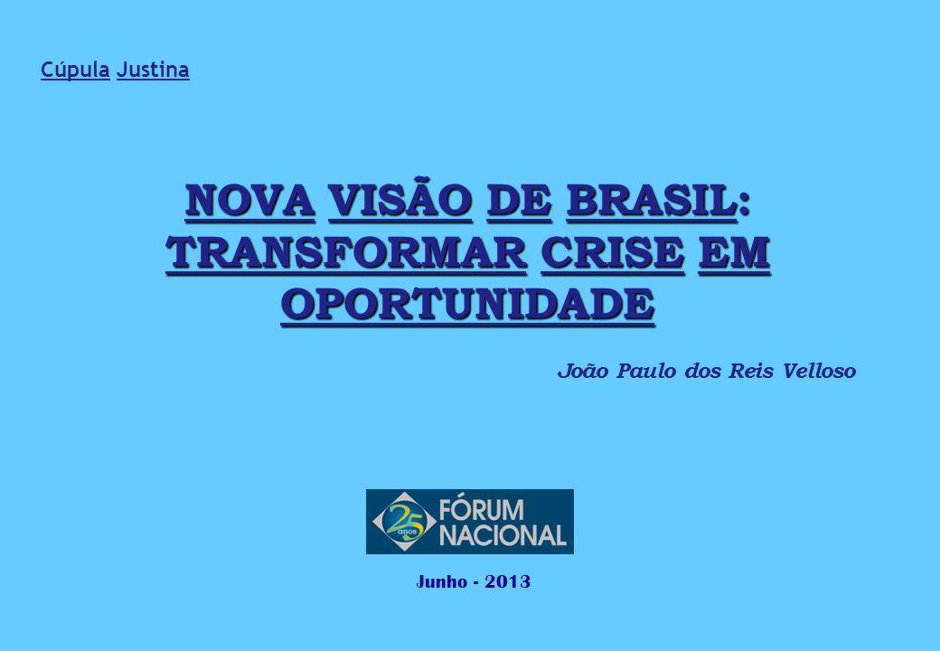 NOVA VISÃO DE BRASIL: TRANSFORMAR CRISE EM OPORTUNIDADE