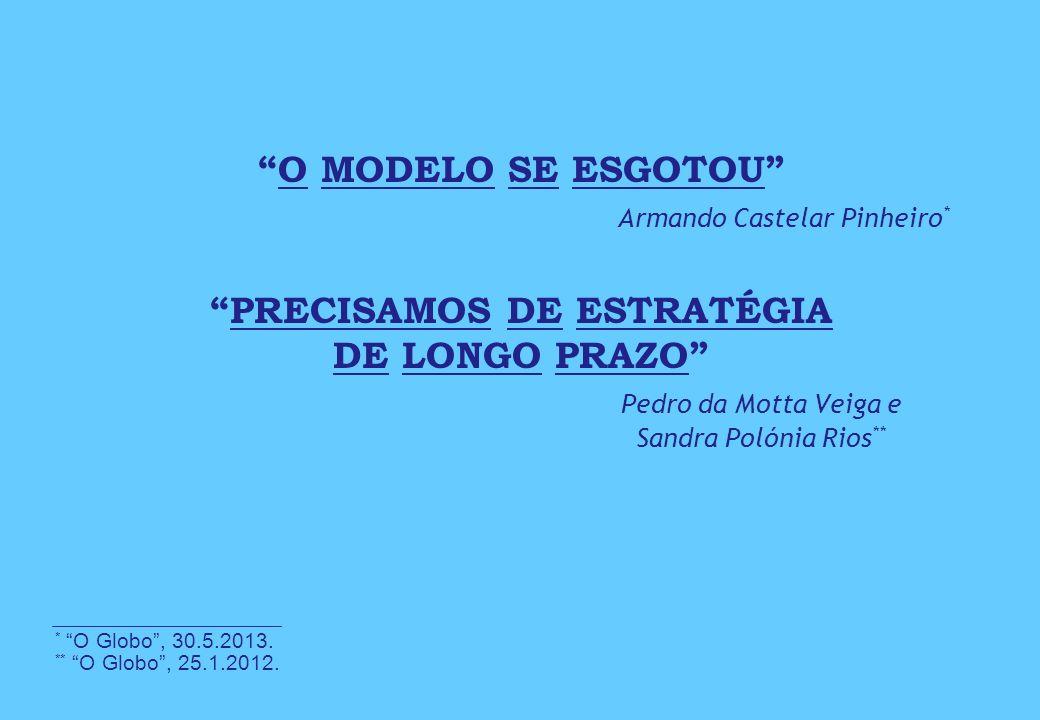 O MODELO SE ESGOTOU . Armando Castelar Pinheiro