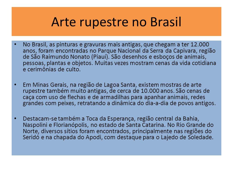 Arte rupestre no Brasil