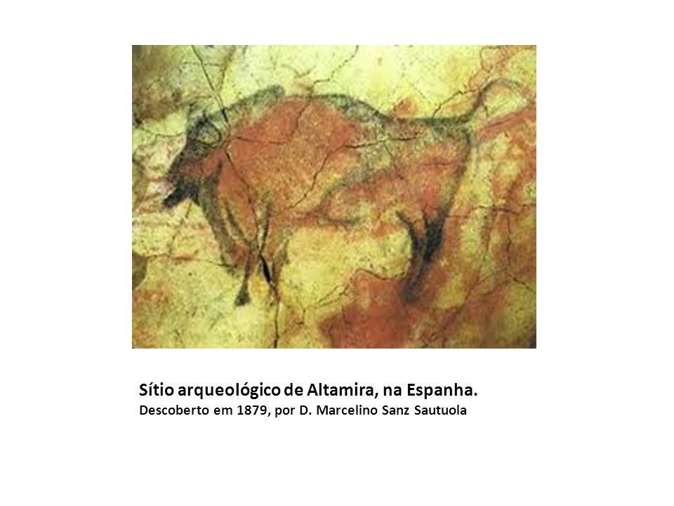 Sítio arqueológico de Altamira, na Espanha. Descoberto em 1879, por D