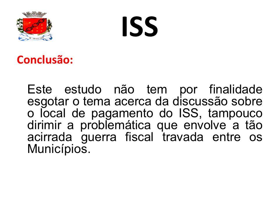ISS Conclusão: