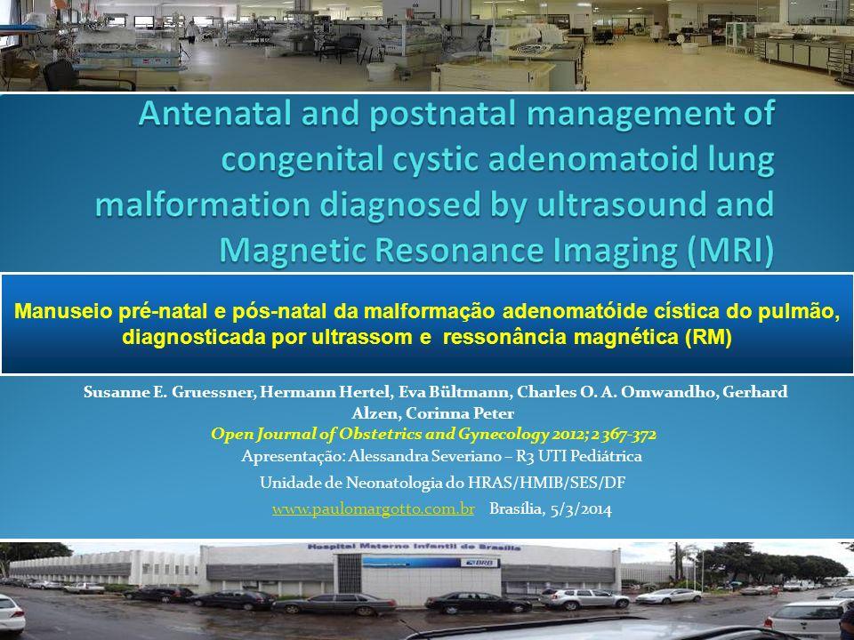 diagnosticada por ultrassom e ressonância magnética (RM)