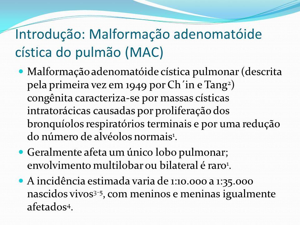 Introdução: Malformação adenomatóide cística do pulmão (MAC)