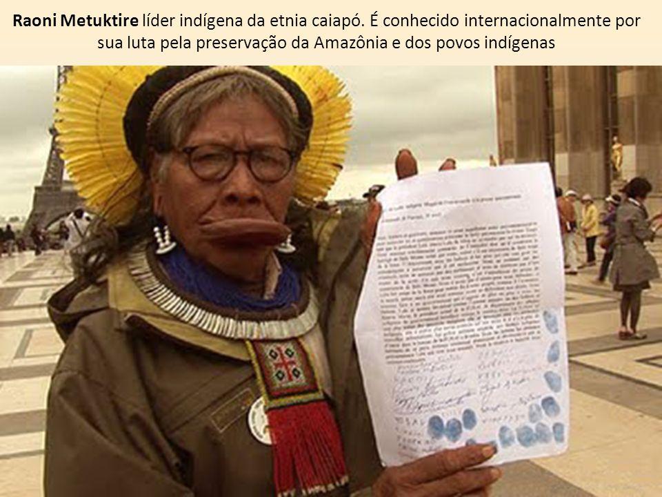 Raoni Metuktire líder indígena da etnia caiapó