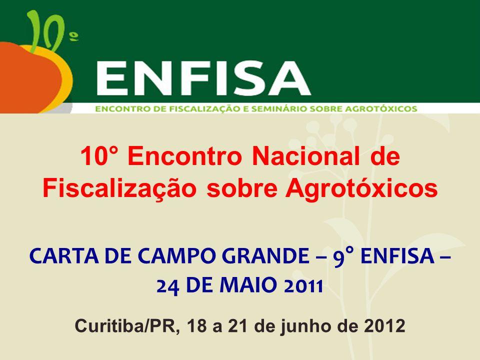 10° Encontro Nacional de Fiscalização sobre Agrotóxicos