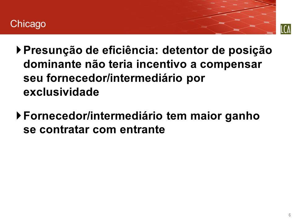 Fornecedor/intermediário tem maior ganho se contratar com entrante