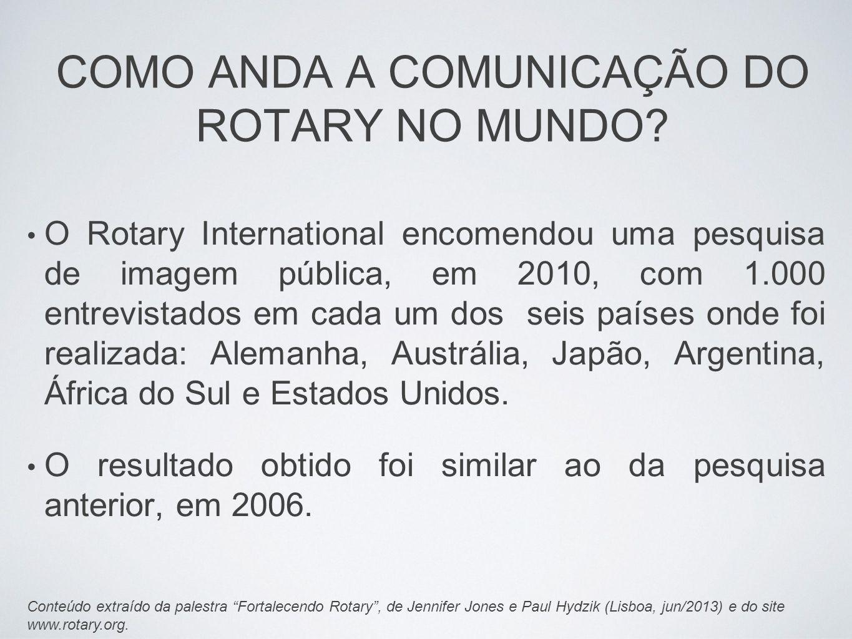 COMO ANDA A COMUNICAÇÃO DO ROTARY NO MUNDO