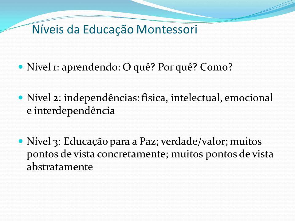 Níveis da Educação Montessori