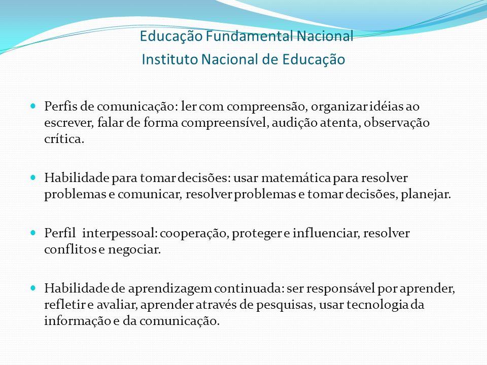 Educação Fundamental Nacional Instituto Nacional de Educação