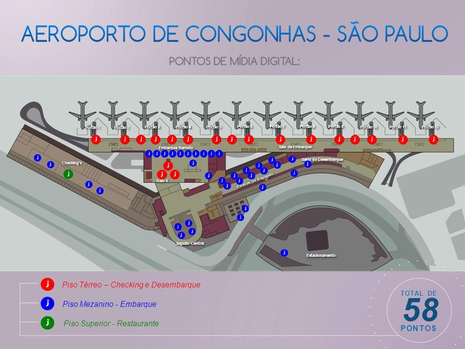 58 Piso Térreo – Checking e Desembarque Piso Mezanino - Embarque