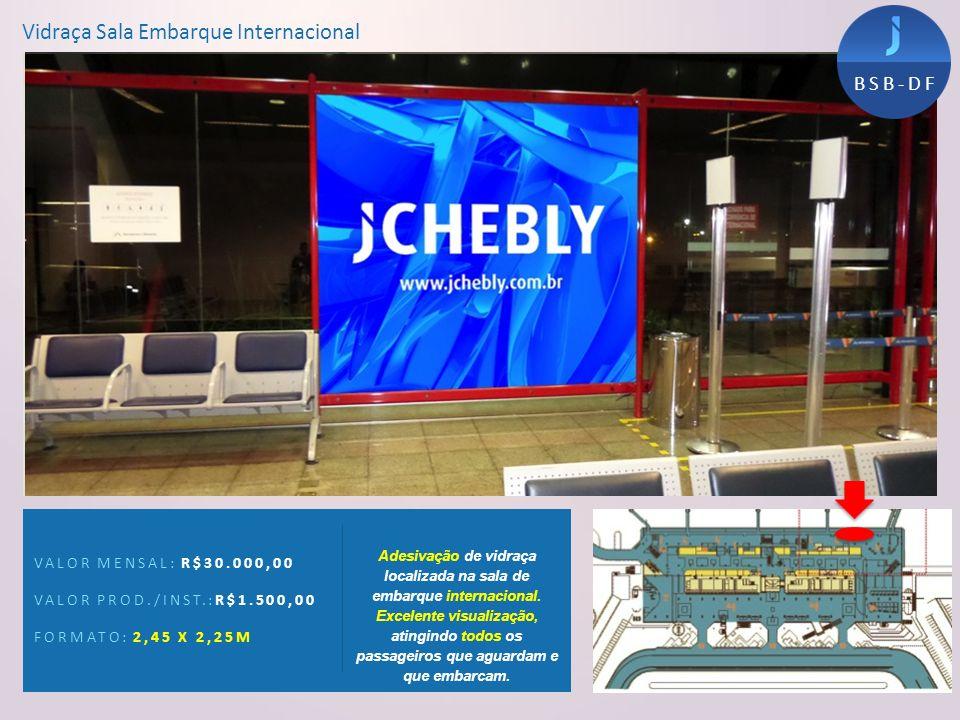 Vidraça Sala Embarque Internacional