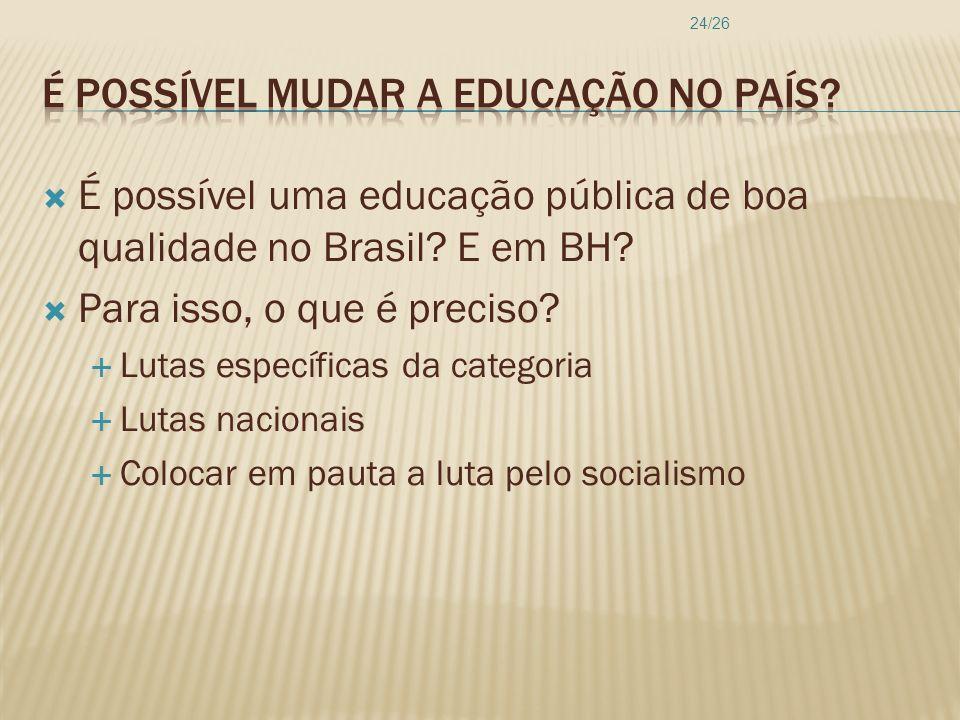 É possível mudar a educação no país