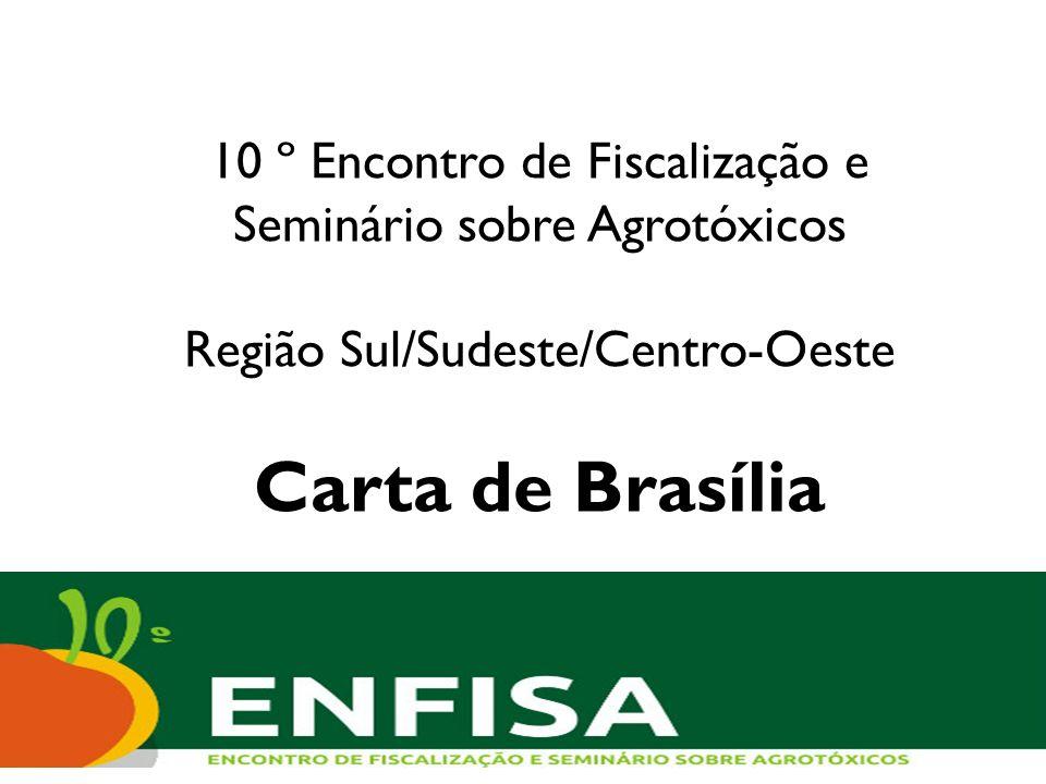 10 º Encontro de Fiscalização e Seminário sobre Agrotóxicos