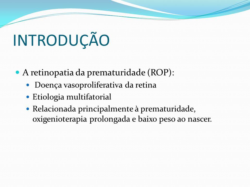 INTRODUÇÃO A retinopatia da prematuridade (ROP):