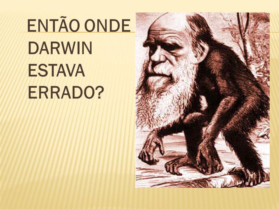 ENTÃO ONDE DARWIN ESTAVA ERRADO