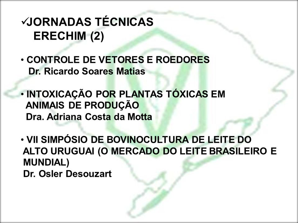 JORNADAS TÉCNICAS ERECHIM (2) CONTROLE DE VETORES E ROEDORES