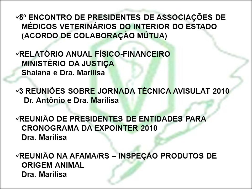 5º ENCONTRO DE PRESIDENTES DE ASSOCIAÇÕES DE