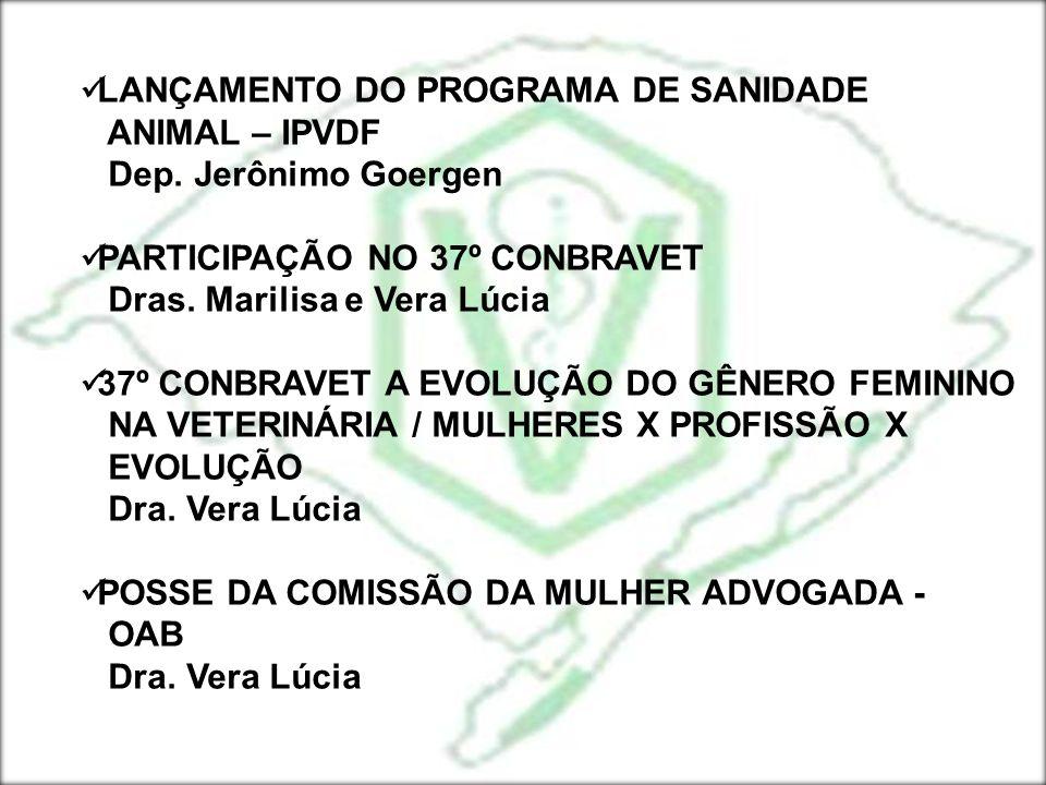 LANÇAMENTO DO PROGRAMA DE SANIDADE